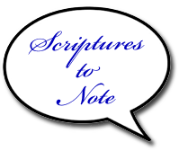 scriptures to note