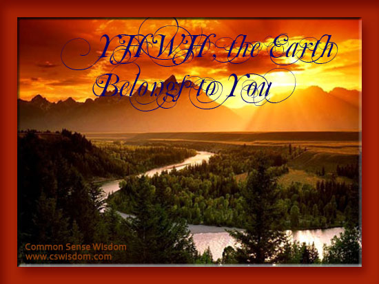 Psalm 24: The Earth Belongs to the LORD