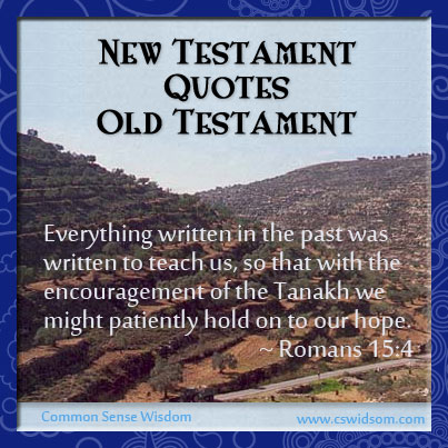 New Testament Quotes Old Testament Introduction