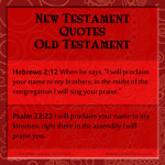 {The New Testament Quoting the Old Testament Part 9}
