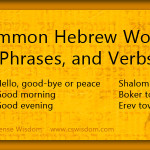 {Common Hebrew Words, Phrases, and Verbs}