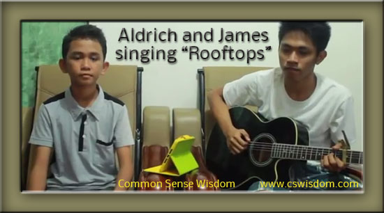 Rooftops sung by Aldrich and James
