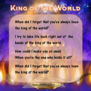 {King of the World (Song) by Natalie Grant}
