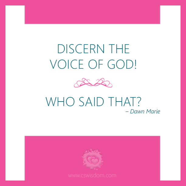 Discern the Voice of God with Priscilla Shirer - www.cswisdom.com